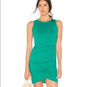 Supreme Jersey Ruched Bodycon Dress in Amazon, XS